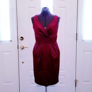 Elegant & Seductive Wine/Deep Brick Red Dress 10